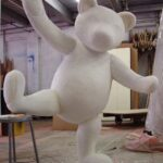 Macy's Unfinished Giant Teddy Bear in studio