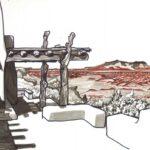 """Painted Desert Inn & Badlands 2011 (11"""" x 16"""")"""
