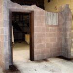 Concrete wall effect