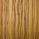 Zebra wood effect